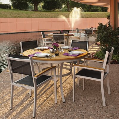 Farmington 5 Piece Dining Set with Black Sling Back Chairs