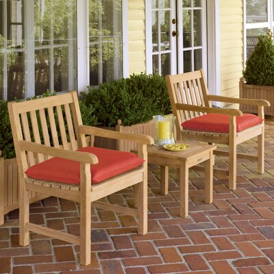 Classic 3 Piece Deep Seating Group with Cushion Fabric: Natural