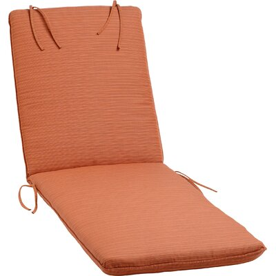 Paityn Outdoor Sunbrella Chaise Lounge Cushion Color: Dupione Papaya