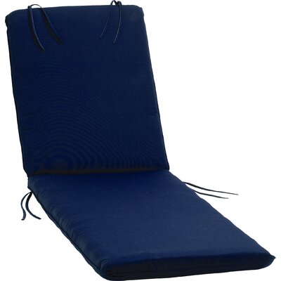Paityn Outdoor Sunbrella Chaise Lounge Cushion Color: Navy