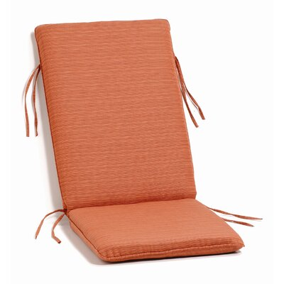 Everleigh Outdoor Chaise Lounge Cushion Fabric: Dupione Papaya