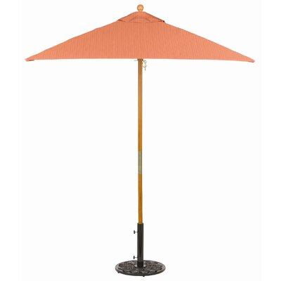 6 Oxford Square Market Umbrella Fabric: Dupione Papaya