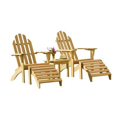 Coraline 5 Piece Adirondack Seating Group