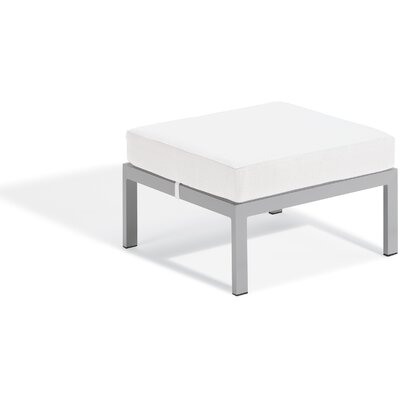 Farmington Ottoman with Cushion Fabric: Eggshell White