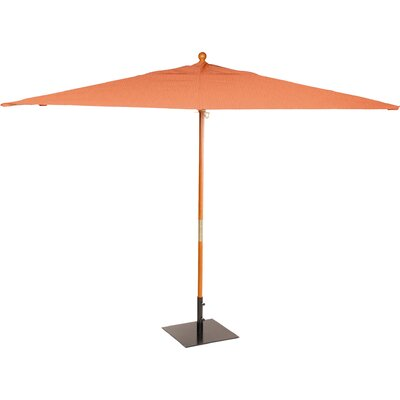 6 x 10 Oxford Rectangular Market Umbrella Fabric: Dupione Walnut