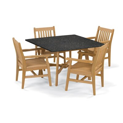 Wexford 5 Piece Dining Set Finish: Natural
