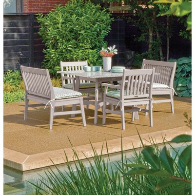 Laney 5 Piece Outdoor Dining Set Finish: Natural
