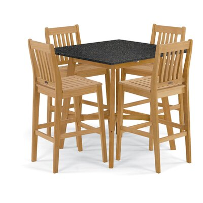 Wexford 5 Piece Dining Set Finish: Natural/Black