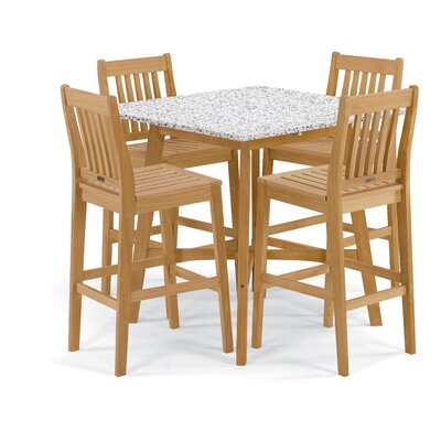 Wexford 5 Piece Dining Set Finish: Natural/White