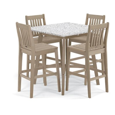 Wexford 5 Piece Dining Set Finish: Grigio/White