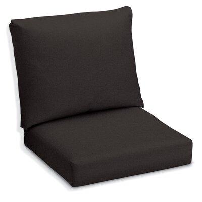 Siena Outdoor Lounge Chair Cushion Fabric: Black