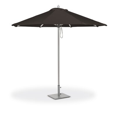 Stambaugh 9' Market Umbrella Fabric: Canvas Black LDER6572 43043481