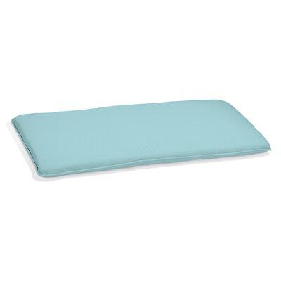 Outdoor Sunbrella Barstool Cushion Fabric: Mineral Blue, Size: 2.5 H x 48.5 W x 18.75 D