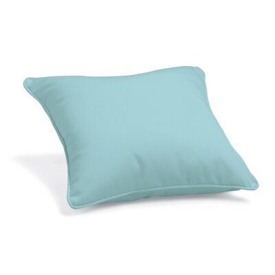 Stancil Sunbrella Throw Pillow Color: Mineral Blue