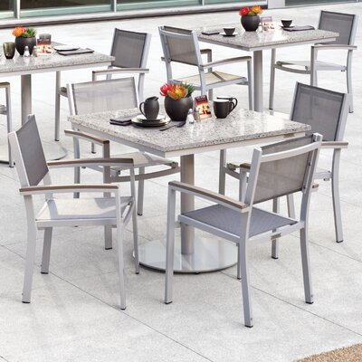 Farmington 5 Piece Dining Set with Sling Seat Chairs Finish: Vintage, Cushion Color: Titanium