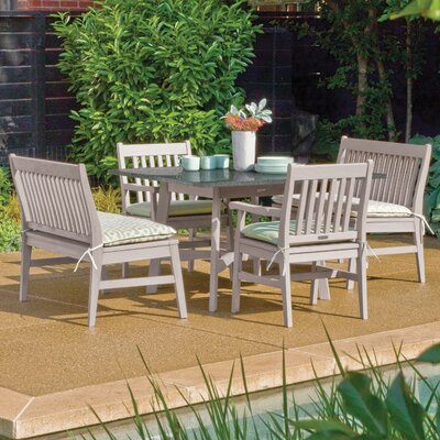 Laney 5 Piece Weather Resistant Dining Set Finish: Natural
