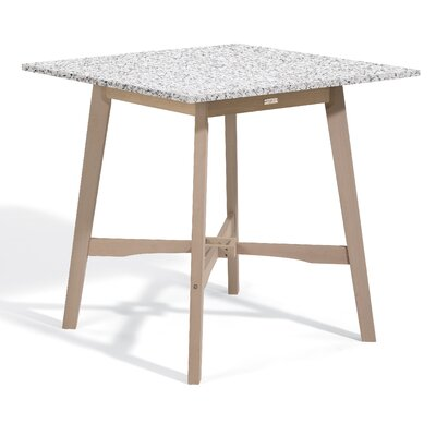 Wexford Bar Table Top Finish: Charcoal, Base Finish: Natural