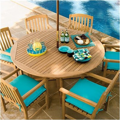 Classic 7 Piece Dining Set with Cushion