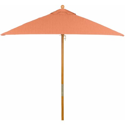 6 Jaliyah Square Market Umbrella Fabric: Dupione Papaya