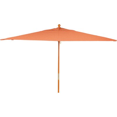 6 x 10 Jaliyah Rectangular Market Umbrella Fabric: Dupione Papaya