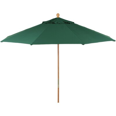 9 Market Umbrella Finish: Walnut, Fabric: Sunbrella