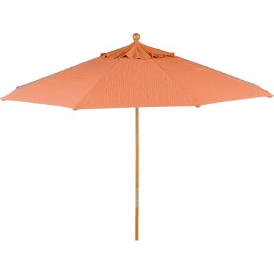 9 Market Umbrella Finish: Papaya, Fabric: Sunbrella