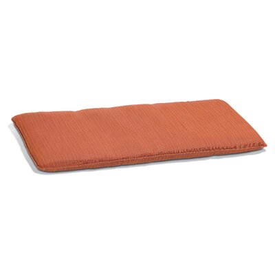 Outdoor Bench Cushion Size: 48 W, Fabric: Dupione Papaya