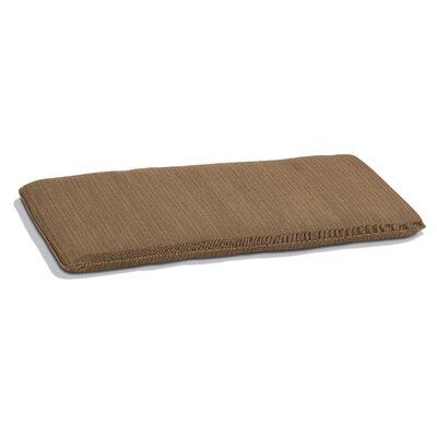 Outdoor Bench Cushion Size: 48 W, Fabric: Dupione Walnut