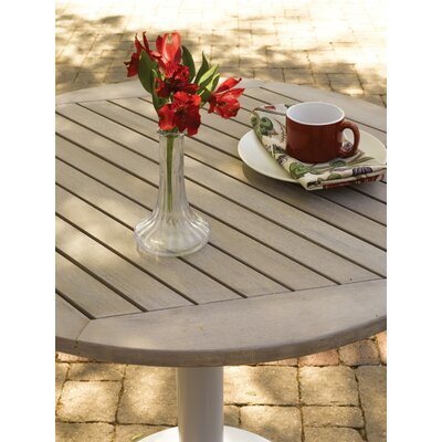 Travira Bistro Table Finish: Tekwood Vintage, Table Size: 32 L x 32 W
