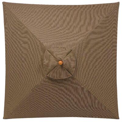 6 Jaliyah Square Market Umbrella Fabric: Dupione Walnut