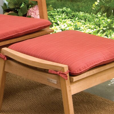 Everleigh Outdoor Ottoman Cushion Fabric: Dupione Papaya