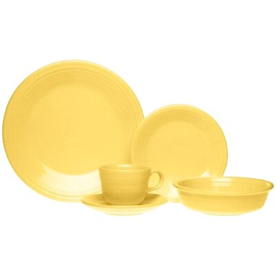 5 Piece Place Setting Color: Sunflower