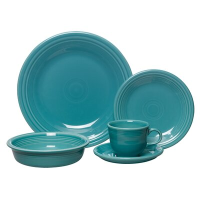 5 Piece Place Setting, Service for 1 Color: Turquoise 107-830
