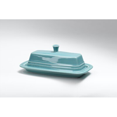 Turquoise Butter Dish With Lid