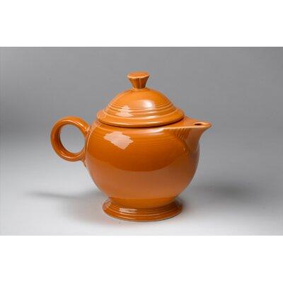 Fiesta Tangerine 44 Oz Covered Teapot