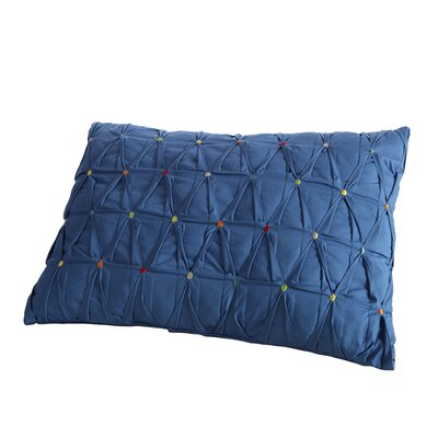 Embroidered Dot Lumbar Pillow Color: Lapis