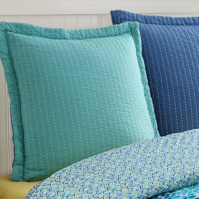 Dash Euro Sham Color: Lapis/Turquoise