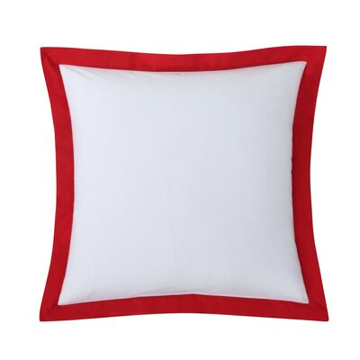 Classic Euro Sham Color: White with Scarlet trim