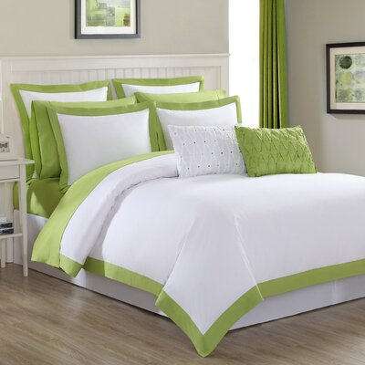 Classic 3 Piece Duvet Set Size: Twin, Color: Lemongrass Trim