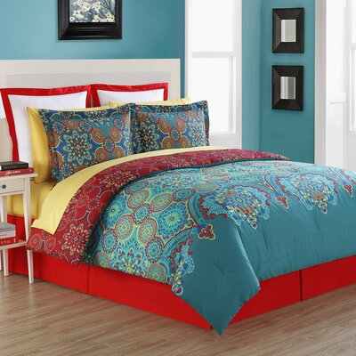 Terra Reversible Comforter Set Size: Full