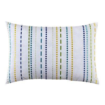 LaVida Embroidered 100% Cotton Lumbar Pillow