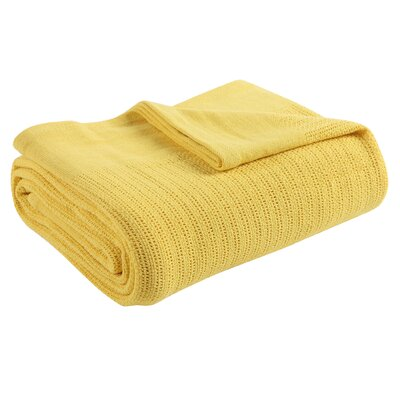 Thermal 100% Cotton Blanket Size: Twin, Color: Sunflower