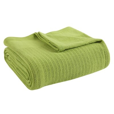 Thermal Cotton Blanket Size: Full/Queen, Color: Lemongrass