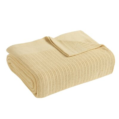 Thermal 100% Cotton Blanket Size: King, Color: Ivory