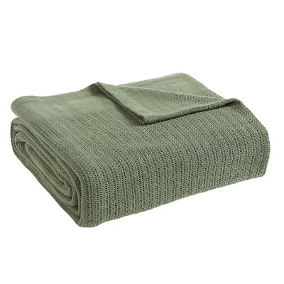 Thermal Cotton Blanket Size: King, Color: Sage