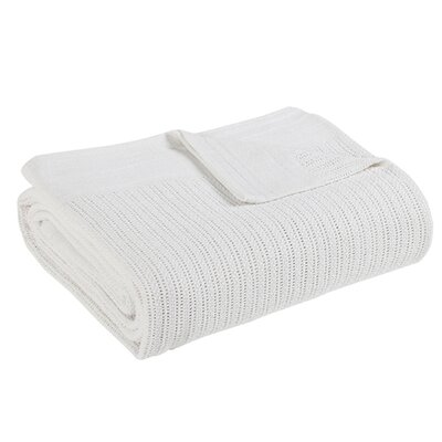Thermal Cotton Blanket Size: Full/Queen, Color: White