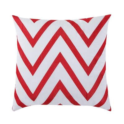 Fiesta Cotton Throw Pillow Color: Scarlet