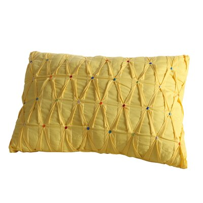 Embroidered Dot Lumbar Pillow Color: Sunflower