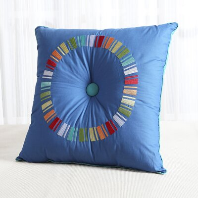 Fiesta Circle Throw Pillow Color: Lapis/Turquoise