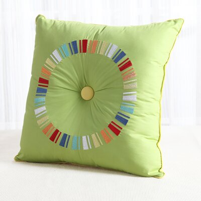 Fiesta Circle Throw Pillow Color: Sunflower/Lemongrass